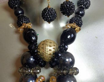 Black & Gold Torus Collection Neckpiece Sample Sale