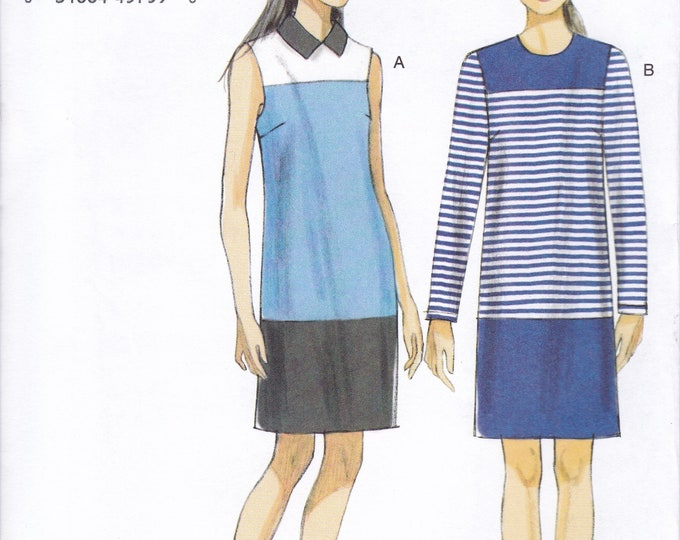 FREE US SHIP Vogue 9048 Sewing Pattern Dres Shirt Sleeveless Long Sleeves Size 8/16 16/24  Bust 30 32 34 36  38 40 42 44 46 new Out of Print
