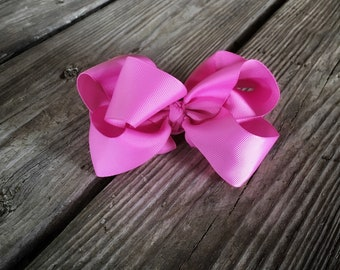 Bubblegum Pink 6 Inch Double Stacked Bow