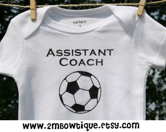 Assistant Coach Baby Onesie, Great gift idea for the expecting sports fanatic!