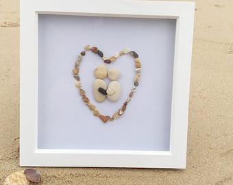 Pebble art lovers in heart