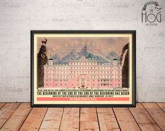 The Grand Budapest Hotel Poster - Quote Retro Movie Poster - Movie Print, Film Poster, Wall Art, Wes Anderson Print