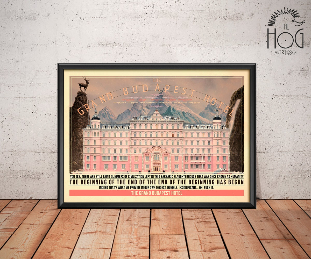 Grand Budapest Hotel Quotes The Grand Budapest Hotel Poster Quote Retro Movie Poster