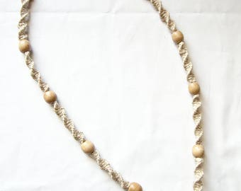 Ganesha pendant / hemp necklace / Hindu necklace / festival jewelry / spiritual necklace / earthy necklace / macrame necklace / mens hemp