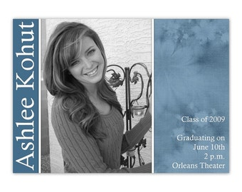 Graduation Announcement Design, CUSTOMIZED for you - 4x6 or 5x7 photo card - YOU PRINT