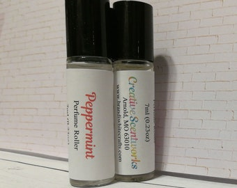 Peppermint Scented Perfume Roller, Roll-On Perfume, Perfume Oil