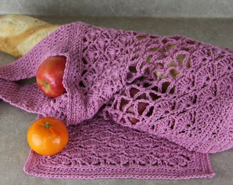 Crochet Dishcloth and Crochet Market Bag