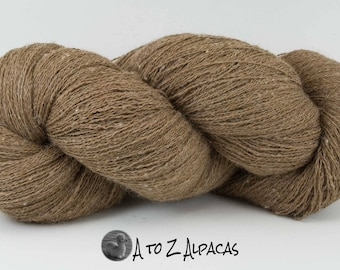 Royal Baby Alpaca Yarn Lace Weight in Natural Brown 1675 yards