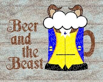 Beast Mug SVG, DXF, JPEG, and Studio Downloads