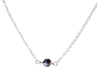 L'amour Necklace - Snowflake Obsidian