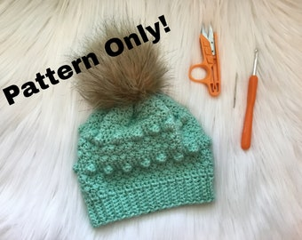 Crochet Suzette Beanie Pattern. Crochet Hat Pattern