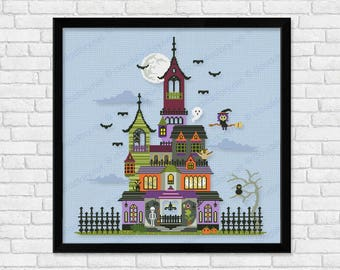 Haunted House - PDF cross stitch pattern