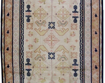 Hand made antique Chinese Fete rug 9' x 11.6' ( 274cm x 353cm ) 1930s