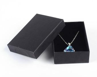 "4 pcs. Black Jewelry Cardboard Gift Display Box - 9cm x 6.5cm x 2.5cm (3.5"" x 2.5"" x 1"")-Great For Necklaces, Earrings & Bracelets"