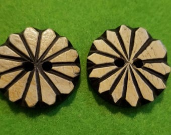 Faux Wood Buttons