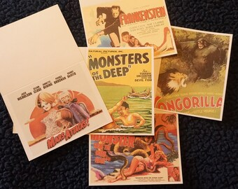 Greeting Cards - Monsters - blank inside