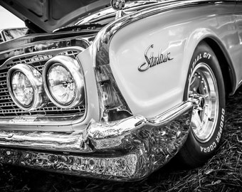 1960 Ford Galaxie Starliner Car Photography, Automotive, Auto Dealer, Muscle, Sports Car, Mechanic, Boys Room, Garage, Dealership Art