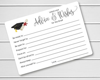 Gorgeous image inside free printable graduation advice cards