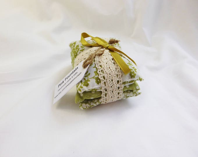 Lavender Sachets, Lavender Pillows, Set Of Three  Drawer Scenters, Birthday Gift, New Home Gift,