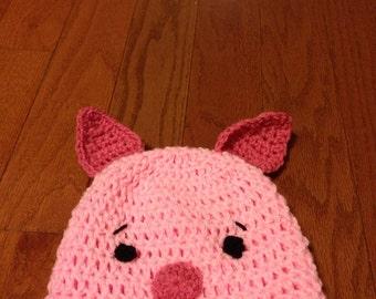 Piglet beanie piglet costume piglet hat piglet photo prop-all sizes newborn through adult