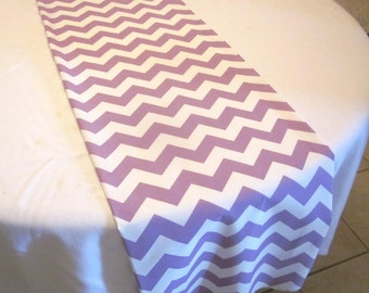 Light Purple Chevron Table Runner, Wedding, Bridal Shower, Baby Shower, Graduation, Birthday, Easter
