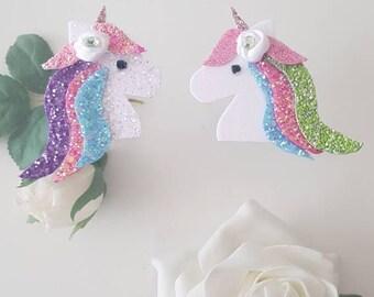 unicorn hair clips