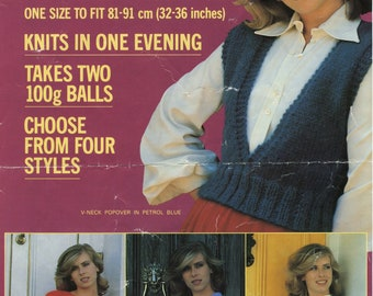 Women's Popovers Twilley's Capricorn Bulky Knit Knitting Pattern 6451 (Good; USED)