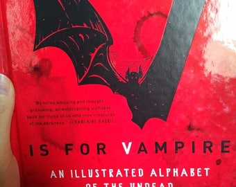 V is for Vampire book
