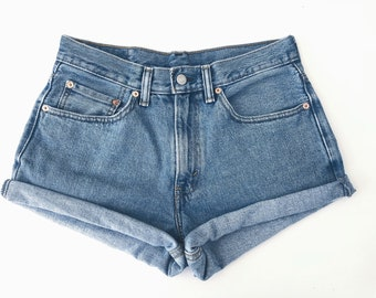 Vintage High Waisted Jean Shorts Cut off All Sizes, ALL Brands Womens shorts., High Rise, rolled shorts