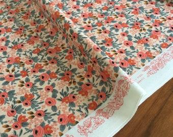 Cotton + Steel and Rifle Paper Co - Les Fleurs - Rosa Peach - Half Yard