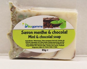 Vegan Mint Soap & Genuine Chocolate, Sweet and Creamy / vegan SOAP, sweet and creamy Mint-Chocolate