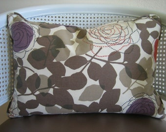 Modern Floral Pillow and Pillow cover (RESERVED for Red Carpet Gifts)