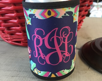 Can Wrap Lilly Pulitzer inspired monogrammed ... 3 Styles to choose from ...Choose your print, frame and mono
