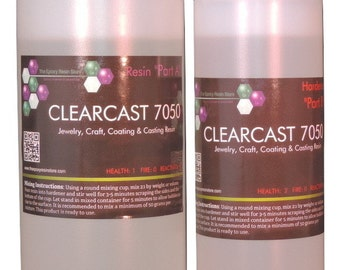 CLEARCAST 7050 - Clear casting coating jewelry making craft epoxy resin - 24oz kit