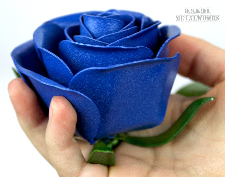 Business Card Holder, Metal Rose, Metal Rose, Metal Flower, Steel ...