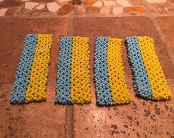Ukrainian Pride Bracelet, Ukrainian Jewelry, Blue and Yellow Beaded Bracelet, Ukrainian Bracelet, Ukraine, Seed Bead Bracelet,