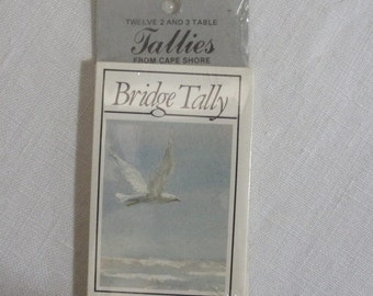 Vintage Seagull Bridge Tally Cards