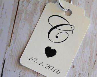 Hochzeit Gunsten Tags, Monogramm, Hochzeit Geschenk-Tag, Hochzeit-Tags, personalisierte Tags, Hochzeit Vielen Dank, Papier-Tags