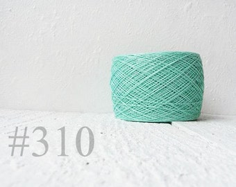 Pure Linen thread for light summer knitting project - Color 310 Mint
