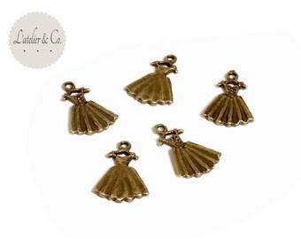 10 charms 21x14mm metal fashion dress Princess beauty B12