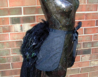 Custom Feather Victorian Bustle With optional Train