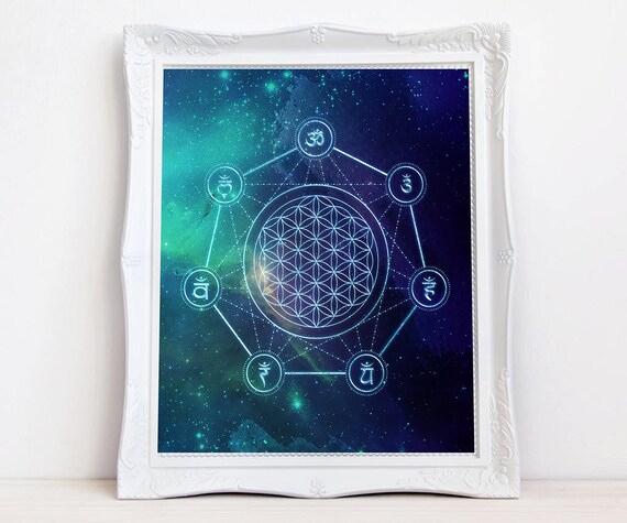 Sacred Geometry print Flower of Life print