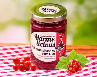 Pure red currant fruit spread