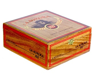 Stash and Jewelry Box with Sliding Tray built from a super cool La Aurora 107 Cigar Box