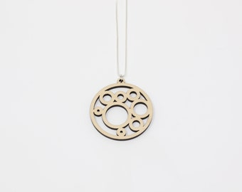 Circles and Bubbles Pendant Necklace