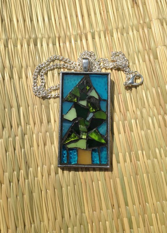 Mosaic tree necklacemosaic pendant necklacenature aloadofball Choice Image
