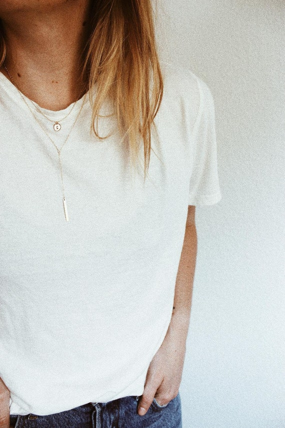 Bundle Listing Collins Necklace & Mini Letter Disc Necklace