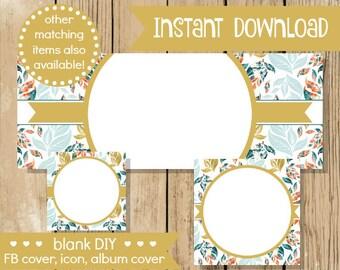 Blank diy facebook set flower bloom do it yourself shop blank diy facebook set gold leaf do it yourself blank facebook cover blank solutioingenieria Gallery