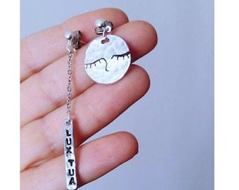 """""""Dreamy moon"""" asymmetrical earrings"""