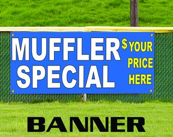 Muffler Special Silencer Bike Spare Parts Retail Shop Business Banner Sign